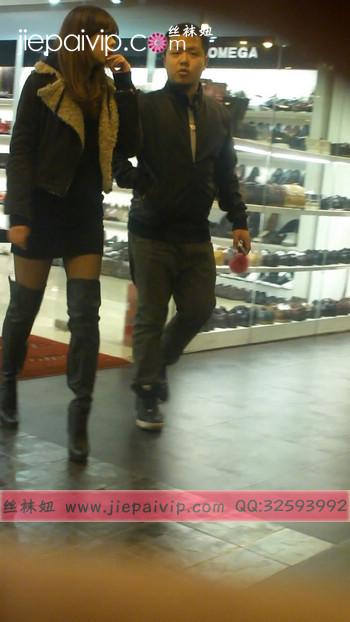街拍穿长靴子的美女62
