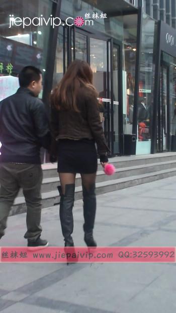 街拍穿长靴子的美女16