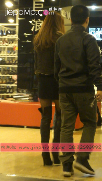 街拍穿长靴子的美女29