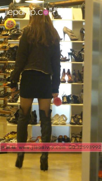 街拍穿长靴子的美女31