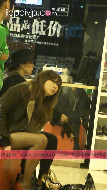 街拍穿长靴子的美女39