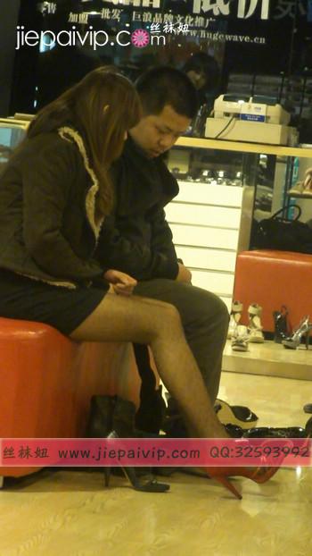 街拍穿长靴子的美女50