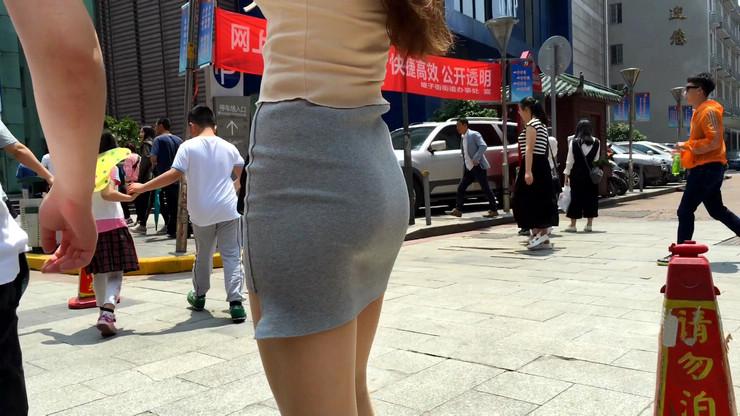 街拍短裙美女,极品翘臀14