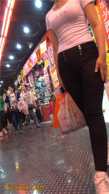 紧身黑裤美眉8