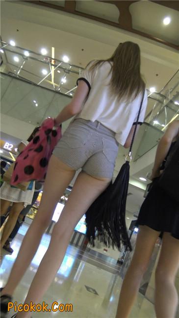 超极品大长腿超短热裤美臀美女1