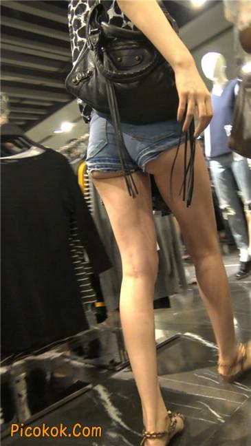极品大长腿超短热裤露美臀之小美女7