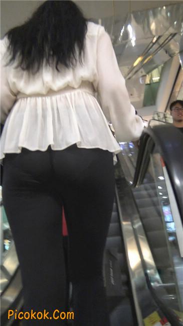 性感超薄打底裤之女