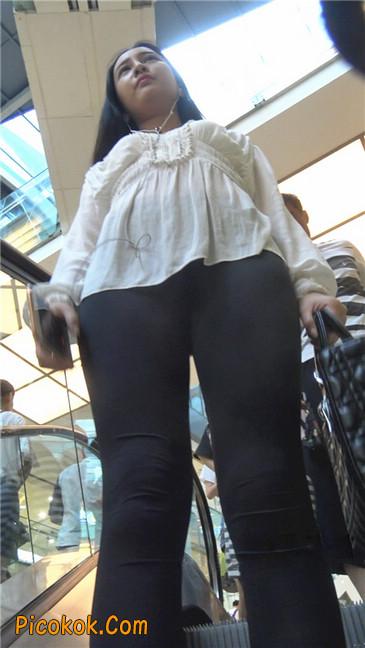 性感超薄打底裤之女1