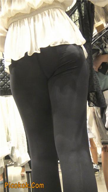 性感超薄打底裤之女5