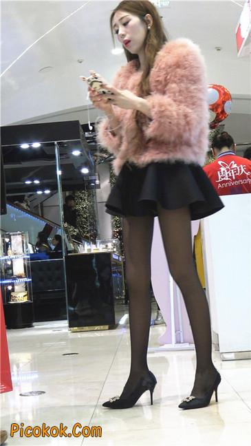 超短裙大长腿黑丝美女3