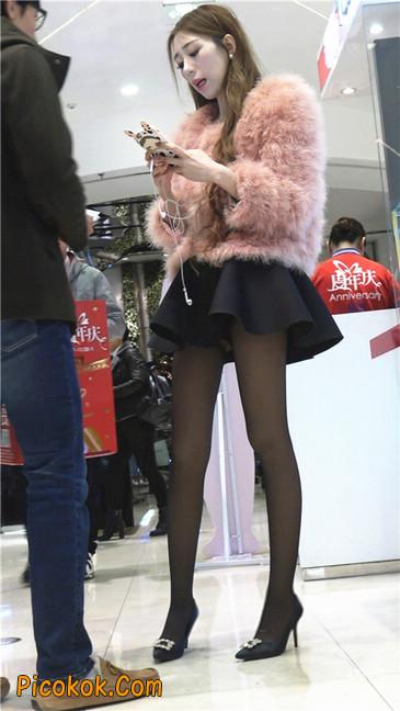 超短裙大长腿黑丝美女4