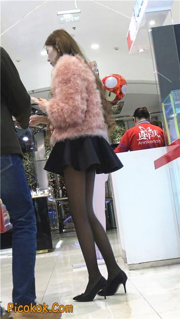 超短裙大长腿黑丝美女5