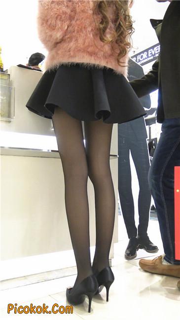 超短裙大长腿黑丝美女6