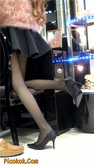 超短裙大长腿黑丝美女7