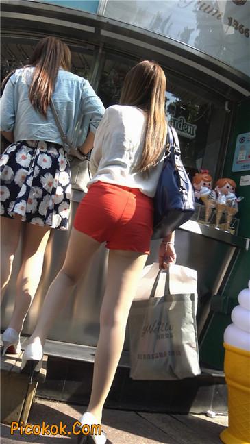 性感红热裤肉丝美妇2