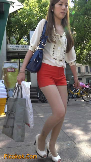 性感红热裤肉丝美妇10