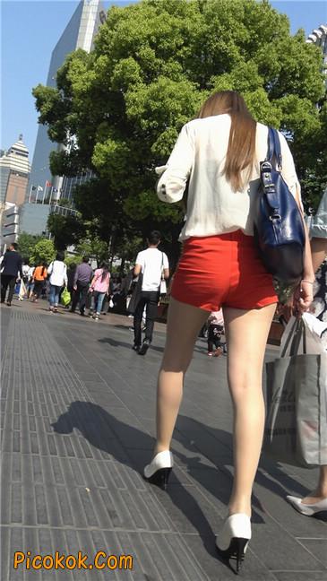 性感红热裤肉丝美妇11