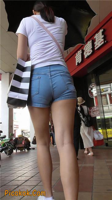 长腿丰臀牛仔热裤MM10