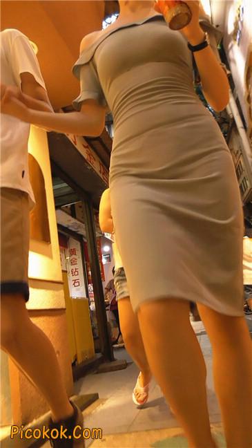 灰紧身裙少妇2