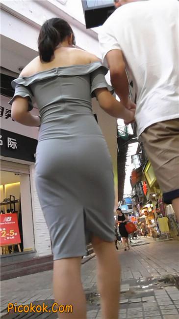 灰紧身裙少妇5