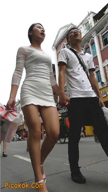 白紧身裙少妇4
