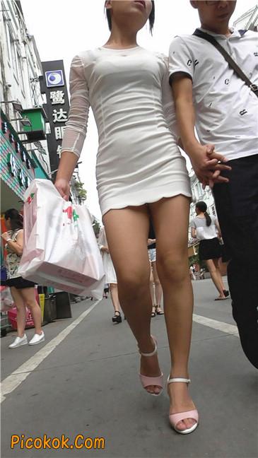 白紧身裙少妇5