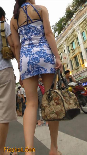 青花齐P包裙1