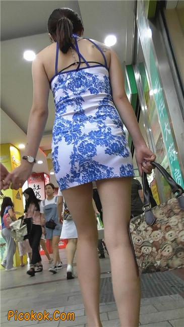 青花齐P包裙9