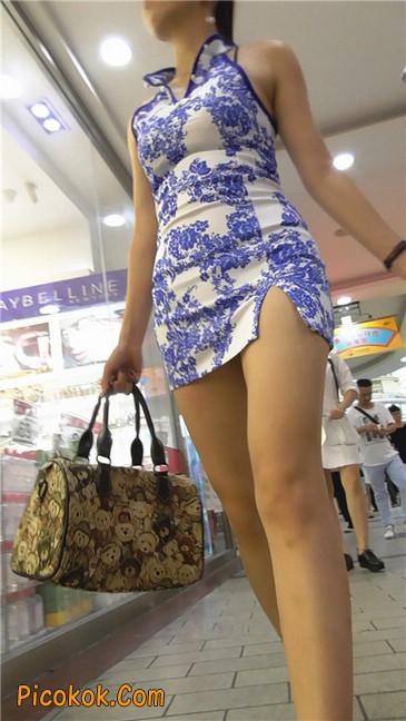 青花齐P包裙10