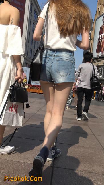 超短蓝牛热裤外国美女2