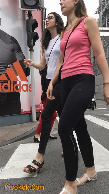 极品黑色紧身软体裤MM