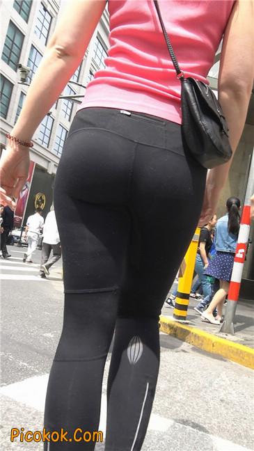 极品黑色紧身软体裤MM6