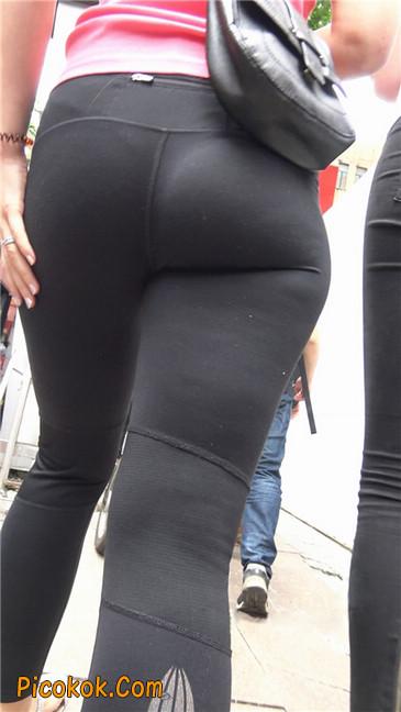 极品黑色紧身软体裤MM7
