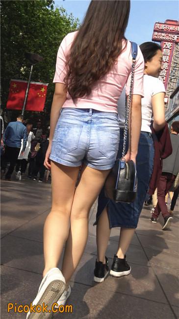 浅蓝热牛粉衣美腿美女12