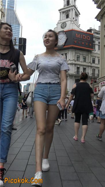 超极品长腿热裤性感三角美女