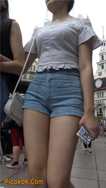 超极品长腿热裤性感三角美女1