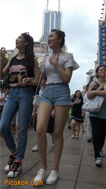 超极品长腿热裤性感三角美女3