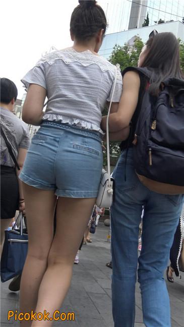超极品长腿热裤性感三角美女5