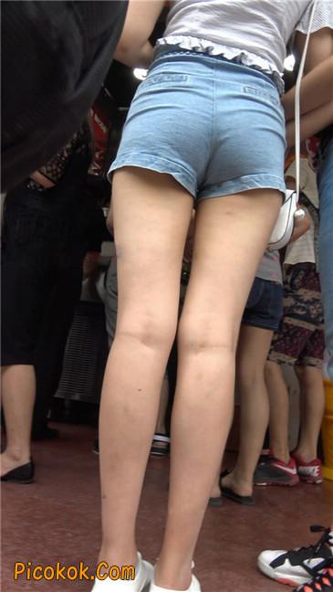 超极品长腿热裤性感三角美女10