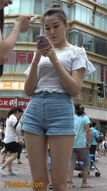 超极品长腿热裤性感三角美女12
