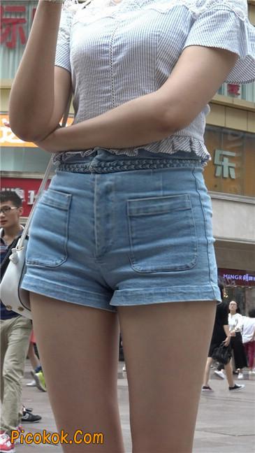 超极品长腿热裤性感三角美女14