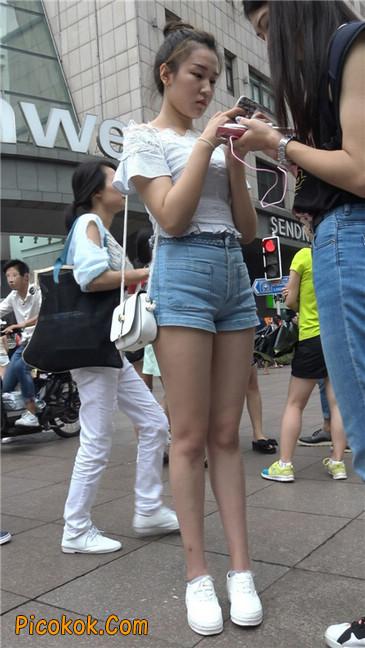 超极品长腿热裤性感三角美女17
