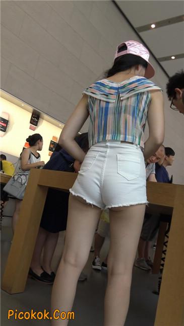 白色短热裤-丰腴之臀6
