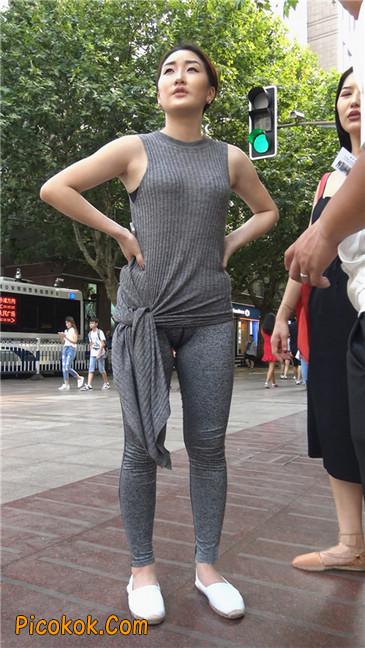 极品健美紧身裤金三角美女1