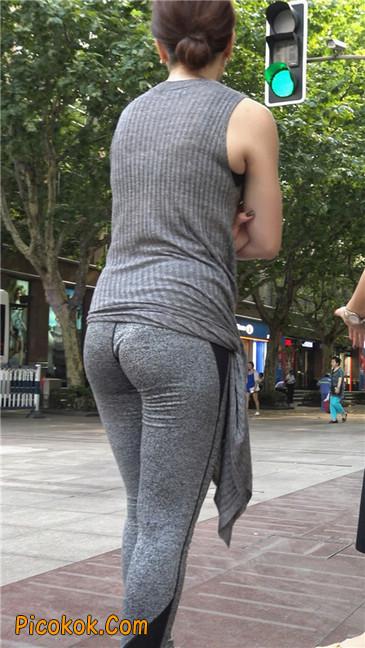 极品健美紧身裤金三角美女3