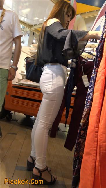 极品丰臀紧身白裤熟女!夹得真紧啊8