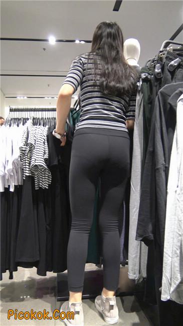 超极品轻盈紧身瑜伽裤翘臀美女试衣服7