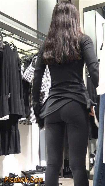 超极品轻盈紧身瑜伽裤翘臀美女试衣服25