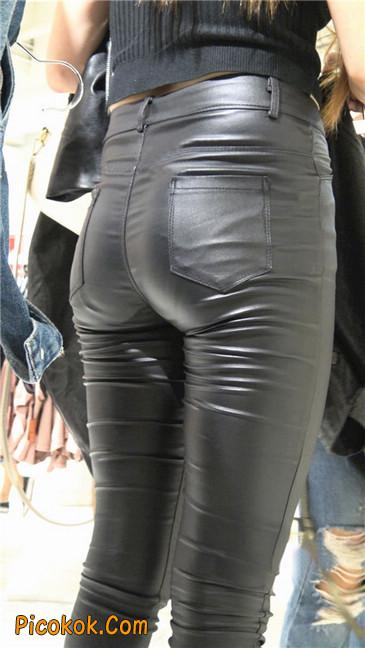 超极品黑色高跟紧身皮裤翘臀大美女第一季3