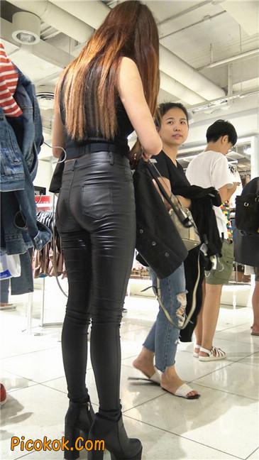 超极品黑色高跟紧身皮裤翘臀大美女第一季4